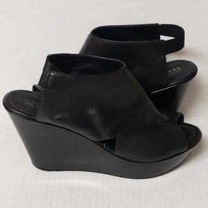 Kenneth Cole Reaction Black Sole Safe Wedge Sandal